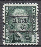USA Precancel Vorausentwertung Preo, Locals Connecticut, Ellington 841 - Vereinigte Staaten
