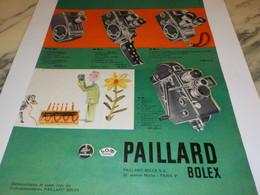 ANCIENNE PUBLICITE CAMERA D8L PAILLARD   1960 - Photographie