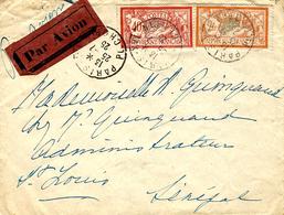25-7-25 - Enveloppe PAR AVION De PARIS XVI  Pour St Louis ( Sénégal ) Affr. 2,40 F -  AEROPOSTAL - Marcophilie (Lettres)
