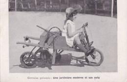 CYCLUS FARM       GERVAISE PRESENTE  UNE JARDINIERE MODERNE ET SON  AUTO - Cartes Postales