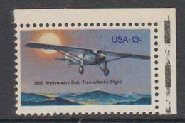 USA 1977 Solo Transatlantic Flight 1v (corner) ** Mnh (41864P) - Verenigde Staten
