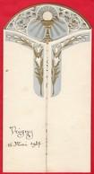 -- VRIGNY (Loiret) -MENU Du 16 Mai 1937 + Image Souvenir De Premiere Communion De Pierre Dougère -- - Menus