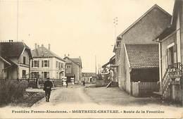 Dpts Div.-ref-AAG272- Territoire De Belfort - Montreux Chateau - Route De La Frontière Franco Alsacienne - Frontieres - - Autres Communes