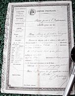 """PASSEPORT """" POLICE EMPIRE FRANCAIS """"  D37 LANGEAIS < DAVID PAUL,Dentiste & Sa FEMME En 1854 - Vieux Papiers"""