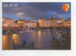 Ile De Ré : La Flotte En Ré - Le Port La Nuit Animée Blason - Ile De Ré