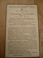 Lokeren Heiende Philomena De Vijlder 1846 1940 - Devotieprenten