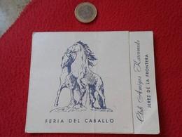 SPAIN TARJETA DE VISITA CARD PUBLICIDAD ADVERTISING O SIMIL FERIA DEL CABALLO CLUB AMIGOS KARCOMEDO JEREZ HORSE CHEVAL - Tarjetas De Visita
