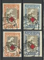 ESTLAND Estonia 1923 Michel 46 - 47 A + B FAKE Keeni Cancels. All 4 Stamps + Overprints Are Genuine! - Estonie