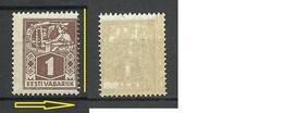 ESTLAND Estonia 1923 Michel 33 A MNH + Perforation Variety ERROR. Brown Gum Type - Estonie