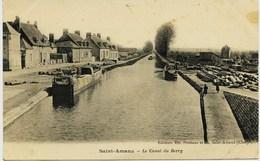 7205 - Cher - St AMAND MONTROND  :  Les Péniches Sur LE CANAL DU BERRY - Saint-Amand-Montrond