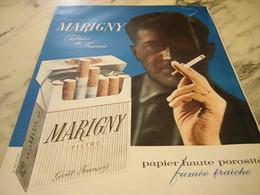 ANCIENNE AFFICHE  PUBLICITE   CIGARETTE MARIGNY PRESTIGE  1960 - Affiches
