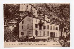 - CPA TOUET-SUR-VAR (06) - Chez PAUL - Hôtel-Restaurant Des Gorges Du Cians - Edition Gilletta - - France