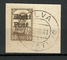Estland Estonie Estonia 1941 German Occupation ELVA Eesti Post 50 Kop O - Estonie