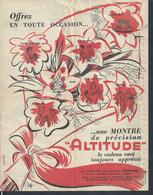 AFFICHE 21X27 ILLUSTRÉE MONTRES ALTITUDE HORLOGERIE : - Affiches
