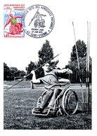 FRANCE. N°1649 Sur Carte Maximum De 1970. Jeux Mondiaux Des Handicapés. - Handisport