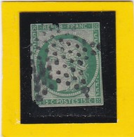 CERES N° 2 Vert Foncé  - REF 17150 - Cote ARTHUR- MAURY 1300€  2ème Choix - 1849-1850 Ceres