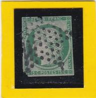 CERES N° 2 Vert Foncé  - OBLITERATION ETOILE DE PARIS MUETTE - REF 17150 - Cote ARTHUR- MAURY 1300€  2ème Choix - 1849-1850 Cérès