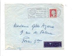 FLAMME FLORALIES PARIS LA DEFENSE 1963 - Marcophilie (Lettres)