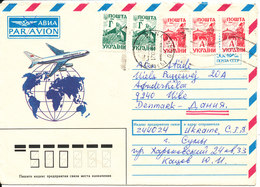 Ukraine Cover Sent To Denmark 21-2-1995 With More Stamps - Ukraine
