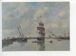 Eugène Boudin 1825/1898 : Marine à Deauville (musée Rennes) Cp Vierge - Deauville