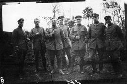 PHOTO ALLEMANDE - OFFICIERS ARTILLEURS BAVAROIS A BARLEUX PRES DE HERBECOURT SOMME -  GUERRE 1914 1918 - 1914-18