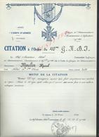 MILITARIA ARMÉE 7 DvInf 40 BRIGADE LE CITATION À L ORDRE CHEF ADOL À MOULIN MARCEL : - 1939-45