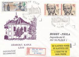 I0447-49 - Tschechoslowakei (1992) R-Brief (3 Stücke) / Lany: 600 Jahre Dorf (gelegentliches R-Label!) - Schlösser U. Burgen