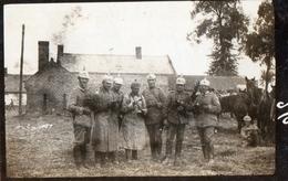 PHOTO ALLEMANDE - ARTILLEURS BAVAROIS A ESTREES (MONS) PRES DE MONCHY LAGACHE SOMME -  GUERRE 1914 1918 - 1914-18