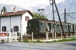 Bedous (64 - France)  16 Mai 1979 - L'automotrice Z4184 Quitte Bedous à Destination De Pau - Trains