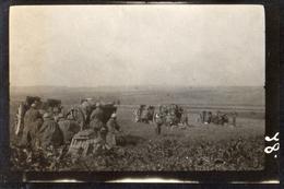 PHOTO ALLEMANDE - ARTILLEURS BAVAROIS A TEMPLEUX (LA FOSSE) PRES DE LIERAMONT SOMME -  GUERRE 1914 1918 - 1914-18