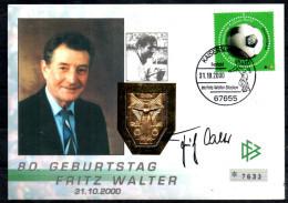 ALLEMAGNE  FDC + Medaille  2000   Football Soccer Fussball Fritz Walter - Fussball