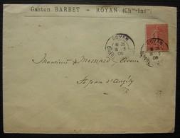 Royan 1906 (Charente Inférieure) Gaston Barbet - Marcophilie (Lettres)