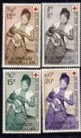 Laos P. A.  N°  31 / 34 XX  3ème Anniv. De La Croix-Rouge Laotienne,  La Série Des 4 Valeurs Sans Charnière, TB - Laos