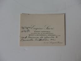 Carte De Visite De Eugène Sacré Expert Comptable 17, Rue Linguet à Reims (51). - Visiting Cards
