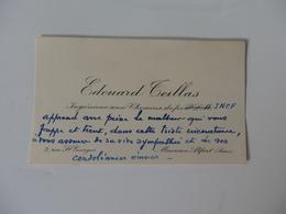 Carte De Visite De Edouard Teillas Ingénieur Aux Chemin De Fer SNCF 3, Rue Saint Georges à Maisons-Alfort (94). - Visiting Cards