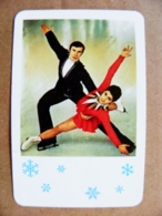 Small Calendar 1978 Aeroflot Soviet Airlines Sport Figure Skating - Tamaño Pequeño : 1971-80