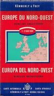 EUROPE DU NORD-OUEST - BENELUX Et GRANDE-BRETAGNE - K[UMMERLY & FREY (2.500.000ème) - Cartes Routières