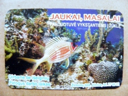 Small Calendar 2002 Lithuania Animals Marine Life Fish Poisson - Calendriers