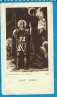 Holycard   St. Longin - Imágenes Religiosas