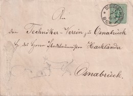 ALLEMAGNE 1878 LETTRE DE DRESDEN POUR OSNABRÜCK - Allemagne