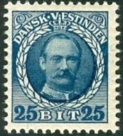 Deens West Indië 1907-08 25bit Frederik VIII Blauw PF-MNH - Denmark (West Indies)