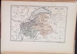 CARTE GEOGRAPHIQUE ANCIENNE: FRANCE: HAUTE SAVOIE (74) (garantie Authentique. Epoque 19 ème Siècle) - Cartes Géographiques
