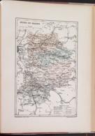 CARTE GEOGRAPHIQUE ANCIENNE: FRANCE: SEINE ET MARNE(77) (garantie Authentique. Epoque 19 ème Siècle) - Carte Geographique