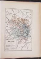 CARTE GEOGRAPHIQUE ANCIENNE: FRANCE: SEINE ET OISE (77) (garantie Authentique. Epoque 19 ème Siècle) - Carte Geographique