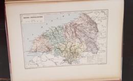 CARTE GEOGRAPHIQUE ANCIENNE: FRANCE: SEINE INFERIEURE(76) (garantie Authentique. Epoque 19 ème Siècle) - Geographical Maps