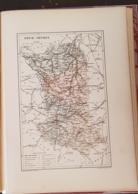CARTE GEOGRAPHIQUE ANCIENNE: FRANCE: DEUX SEVRES (79) (garantie Authentique. Epoque 19 ème Siècle) - Cartes Géographiques