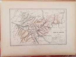 CARTE GEOGRAPHIQUE ANCIENNE: FRANCE: TARN ET GARONNE (82) (garantie Authentique. Epoque 19 ème Siècle) - Cartes Géographiques