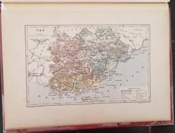 CARTE GEOGRAPHIQUE ANCIENNE: FRANCE: VAR (83) (garantie Authentique. Epoque 19 ème Siècle) - Cartes Géographiques