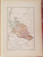 CARTE GEOGRAPHIQUE ANCIENNE: FRANCE: VAUCLUSE (84) (garantie Authentique. Epoque 19 ème Siècle) - Cartes Géographiques