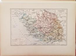 CARTE GEOGRAPHIQUE ANCIENNE: FRANCE: VENDEE (85) (garantie Authentique. Epoque 19 ème Siècle) - Cartes Géographiques
